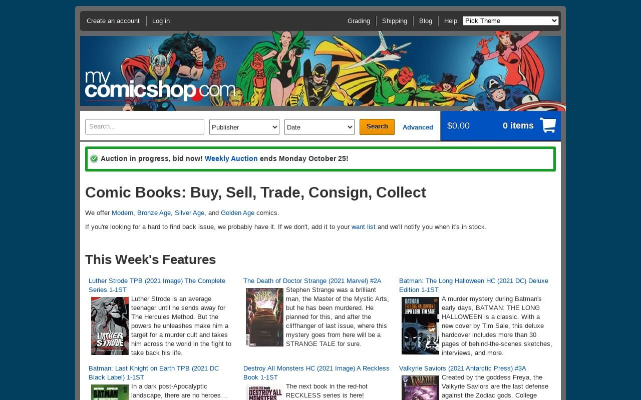 MyComicShop on ReadSomeReviews