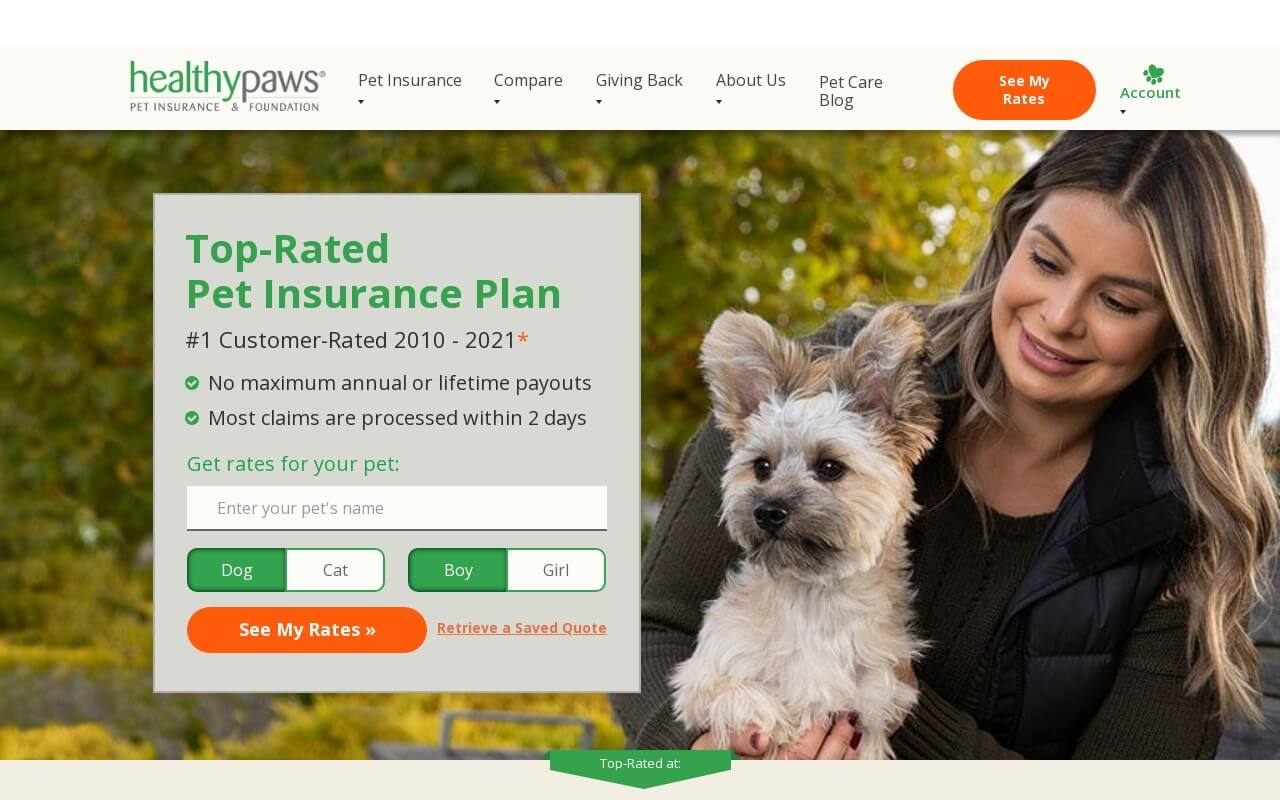 Healthy Paws Pet Insurance on ReadSomeReviews
