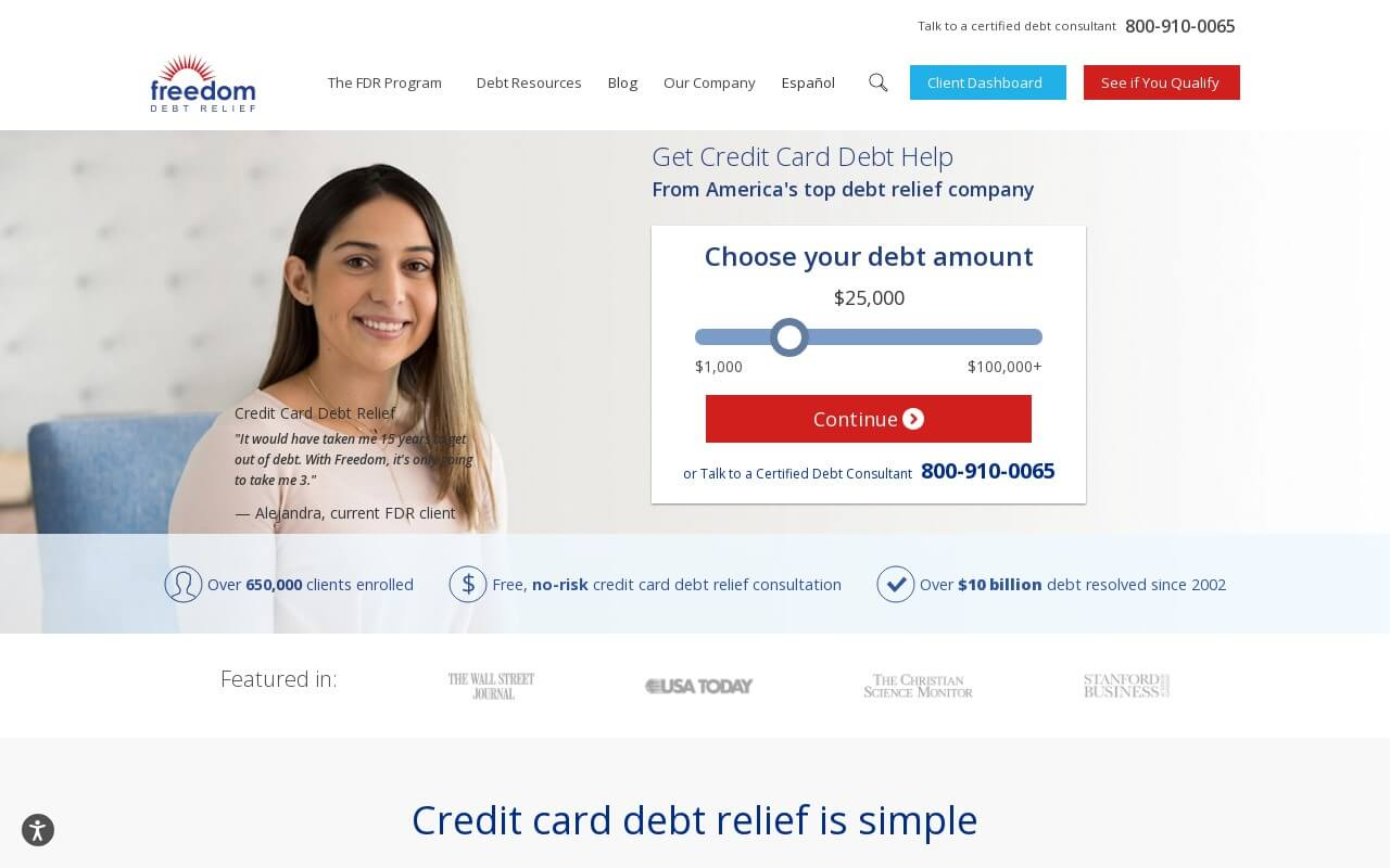 Freedom Debt Relief on ReadSomeReviews