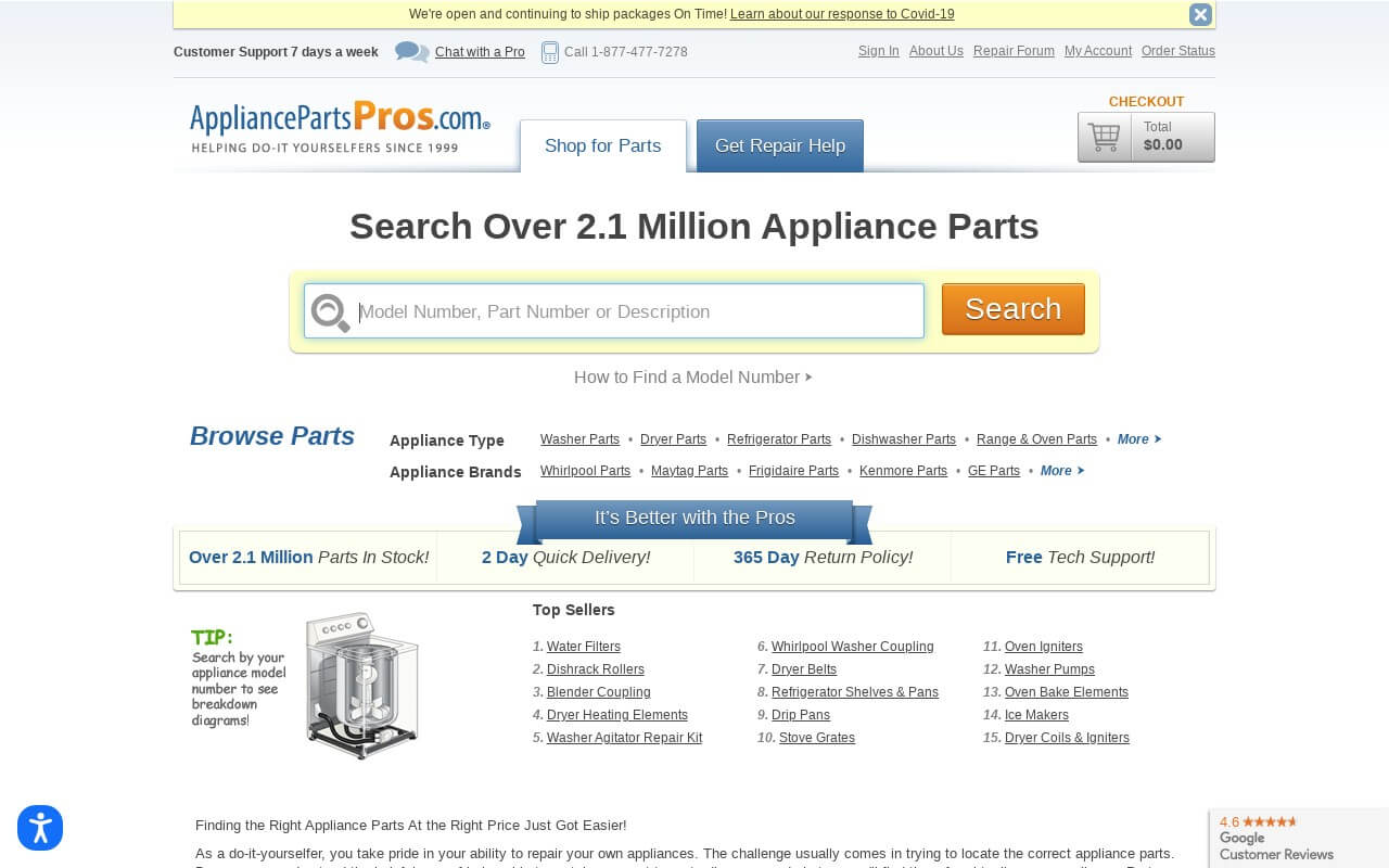 Appliance Parts Pros on ReadSomeReviews